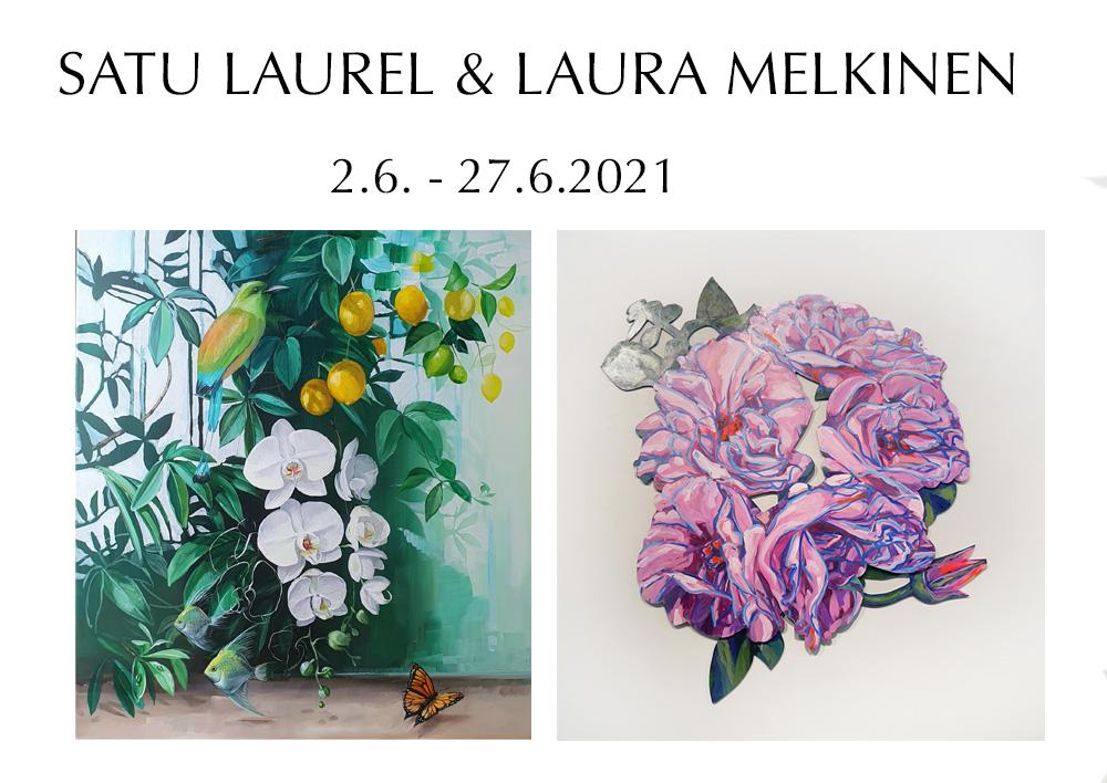 Satu Laurel ja Laura Melkinen Galleria Koivulinnassa